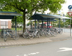 Bike + Ride - Station am Roland-Center in Huchting. Quelle: KWK-Freiraum-Planung
